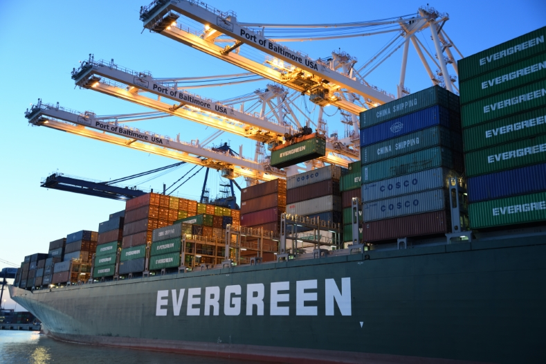 Evergreen containerschip